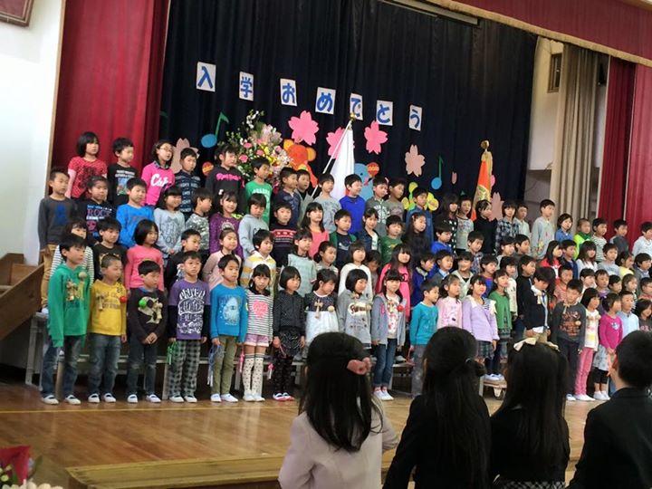 神明小学校入学式